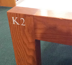 Photo: my assigned table in the library - K2