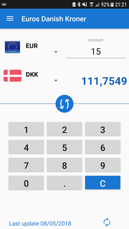 Euro to Danish Krone / EUR to DKK Converter – (Android Apps) — AppAgg