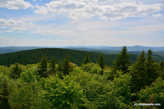 Photo: Mountain views from the fire tower at Molly Stark State Park by Bill Steele