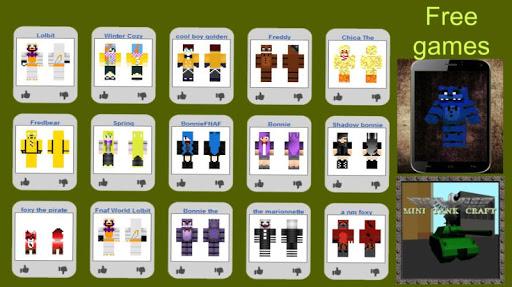 Skin Map FNAF for Minecraft
