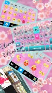 Pink Blossom Lovely keyboard - náhled