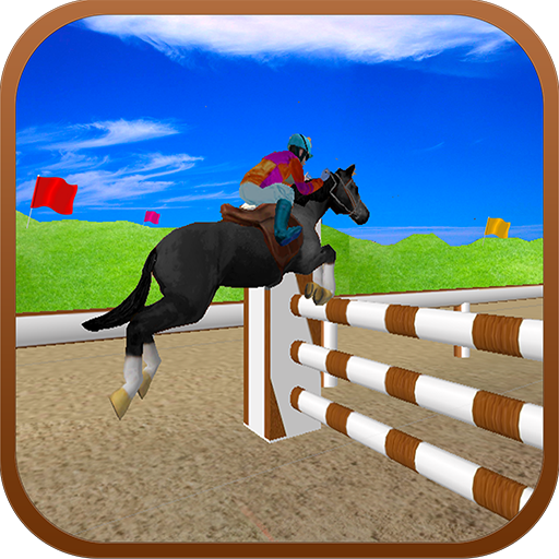 Black Horse Jumping Racing 3D