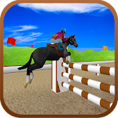 Black Horse Jumping Racing 3D