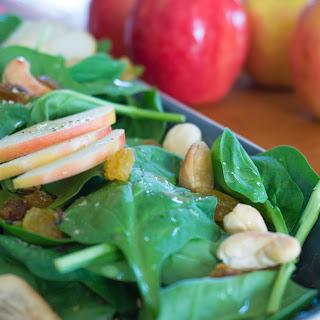 Apple-Cashew Spinach Salad.