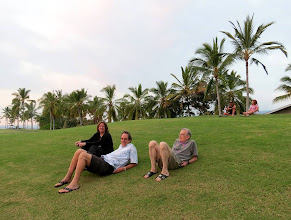 Photo: Laurel, Howard, Randy waiting for the sunset