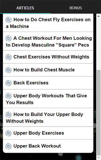 Chest And Back Upper Workout Screenshot