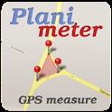 Planimeter - GPS area measure | land survey on map icon