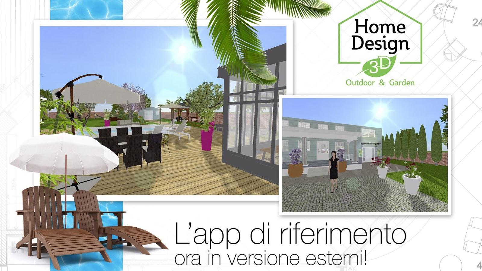 Home design 3d outdoor garden app android su google play - 3d home design app ...