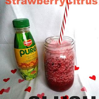 Strawberry Citrus Slush with Del Monte Fresh Juice.