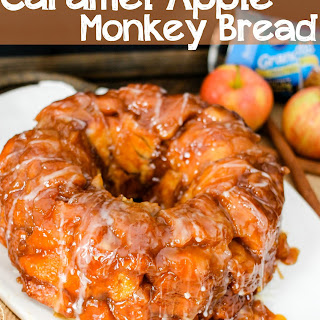 Apple Monkey Bread with Caramel Drizzle.