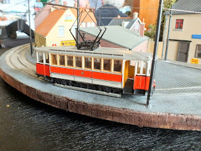 Photo: 009 I don't know the make of this rather splendid little HO scale tram model, but it is very nicely done indeed .