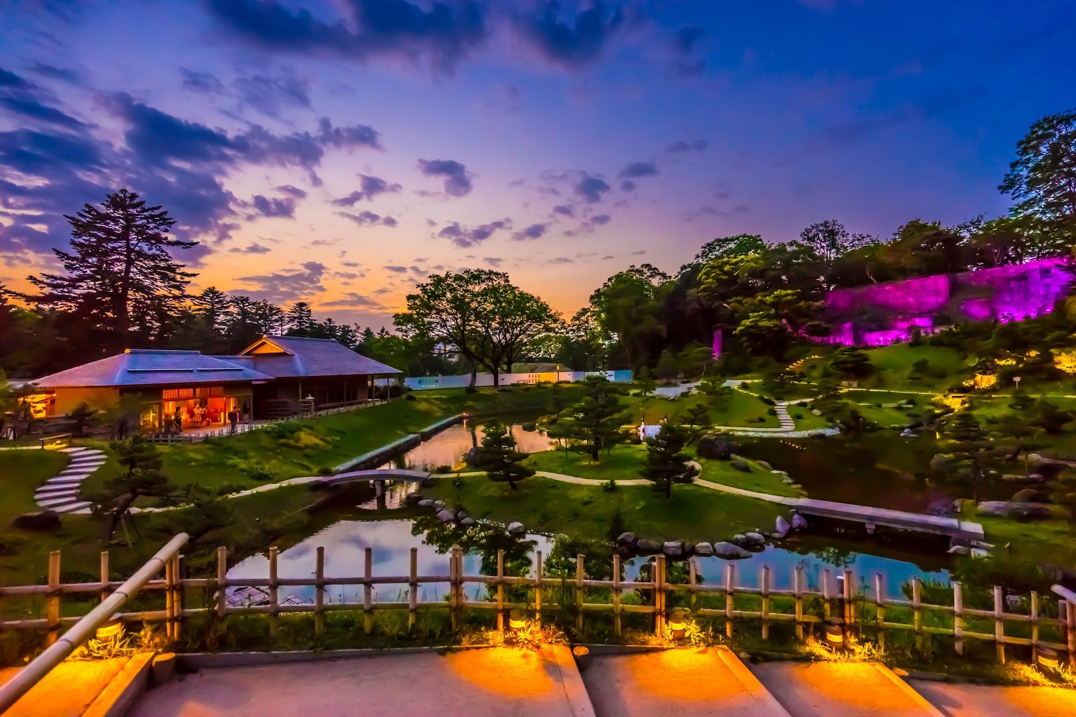 玉泉院丸庭園 ライトアップ2
