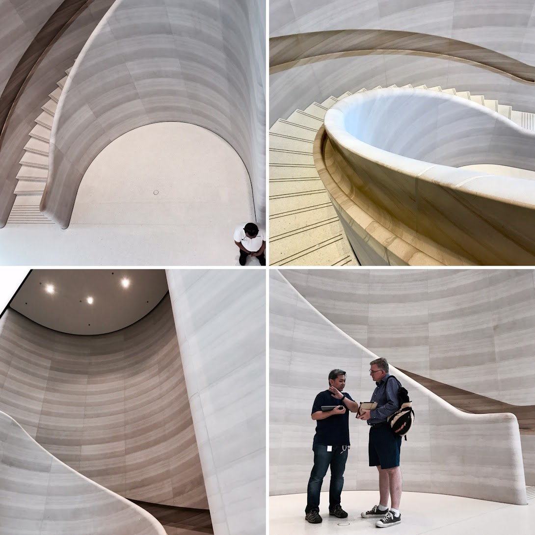 Staircases at Apple Store, Singapore.