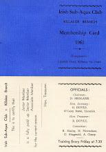 Photo: Club's first membership card 1961