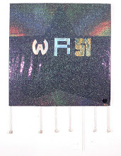 Photo: The W 2000 48 x 48 in oil, holographic film on canvas
