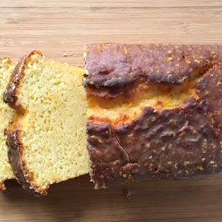 Orange Poundcake with Orange Glaze.