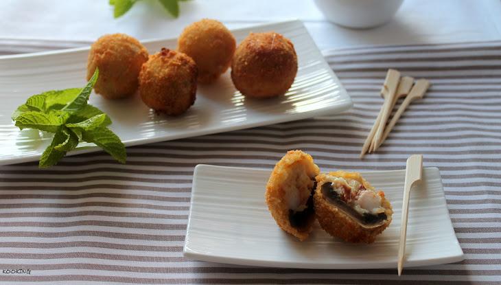Shrimp-Stuffed Mushrooms with Ham Recipe