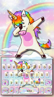 Colorful Swag Unicorn Keyboard Theme