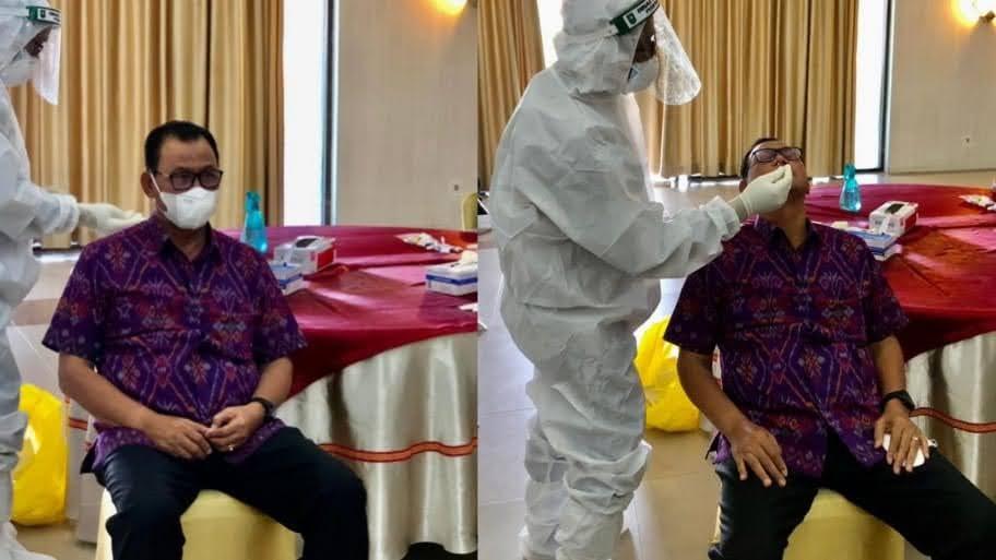 Presiden RI  Ir H Joko Widodo Berkunjung ke Riau, Bupati Rohil H Suyatno Test Swab Untuk Kunker Presiden