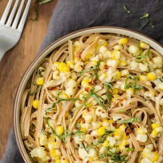 Goat Cheese and Sweet Corn Pasta
