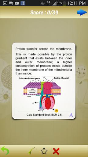 MCAT Biochemistry Flashcards by Gold Standard (Google Play, United