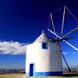 Old windmill by Gil Reis - Buildings & Architecture Public & Historical ( windmills, places, travel, colors )