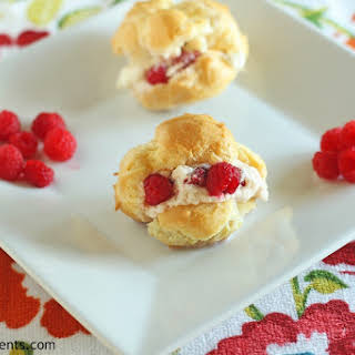 Cream Puffs with Raspberry Filling.