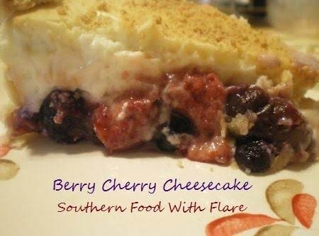 Berry Cherry Cheesecake Pie