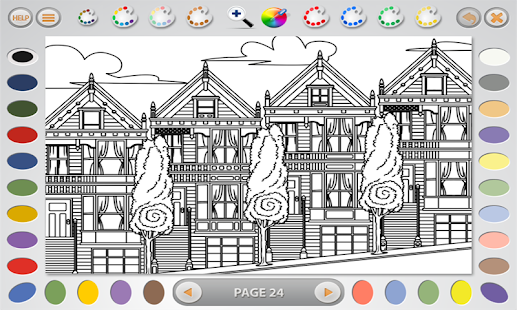 Intricate Coloring 1: Places- screenshot thumbnail