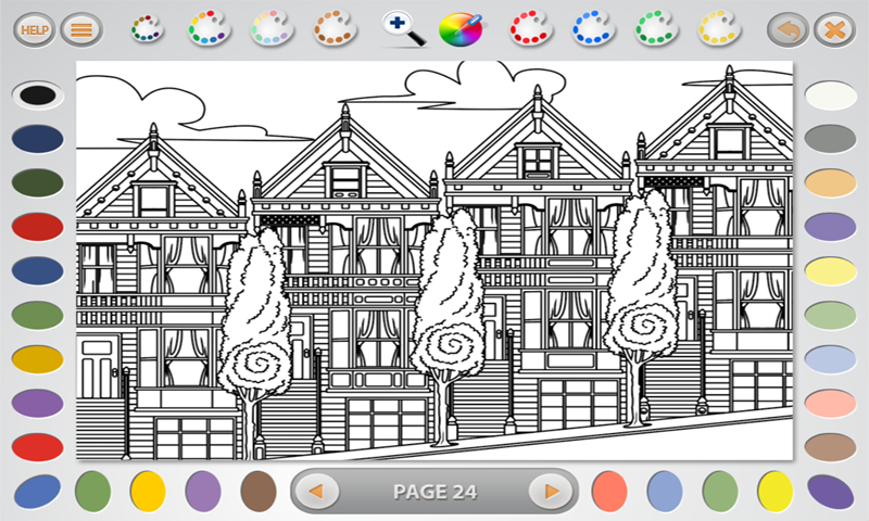 Intricate Coloring 1: Places- screenshot