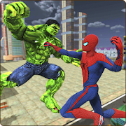 Monster Hero vs Flying Spider City Battle