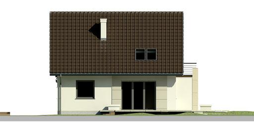 Dom przy Cyprysowej 19 - Elewacja tylna