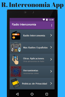 Radio Interconomia App - náhled