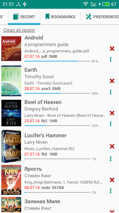Lirbi Reader: PDF, eBooks- screenshot