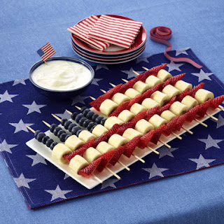 Stars and Stripes Fruit Kebabs.