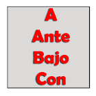 Prepositions in spanish icon