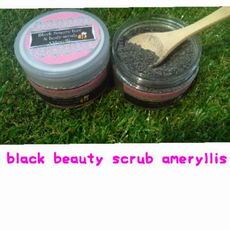 black beauty scrub ameryllis by ameryllis nature soap