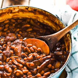Sweet Apple Bourbon Baked Beans