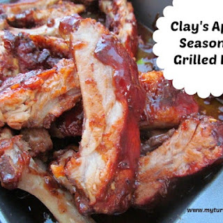 Clay's Apple Seasoned Grilled Ribs.
