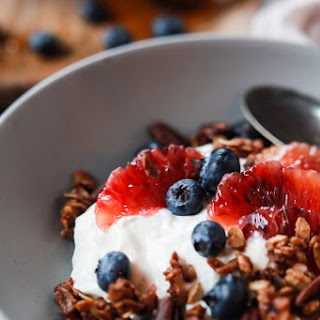 Yogurt Breakfast Bowl with Blood Orange and Blueberries