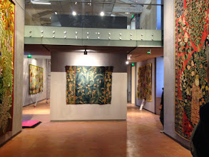 Photo: Les grandes œuvres - confrontation avec la tapisserie ancienne (prêt musée d'Aubusson)