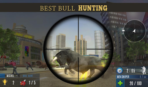 Angry Bull Attack Shooting  screenshots 2