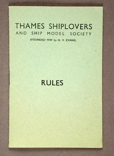 Booklet:Thames Shiplovers and Ship Model Society Rules