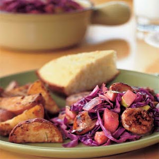 Sausage and Red Cabbage.