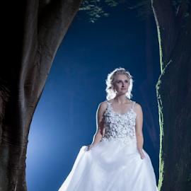 Night by Lood Goosen (LWG Photo) - Wedding Bride ( wedding photography, wedding photographers, night photography, woman, wedding day, wedding day wedding dress, brides, beauty, wedding photographer, bride )