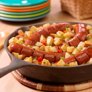 Skillet Franks and Potatoes