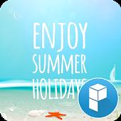 Summer Holidays launcher theme