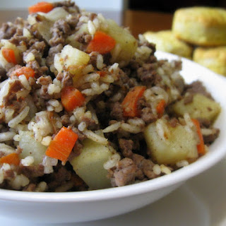 Easy Venison and Rice.