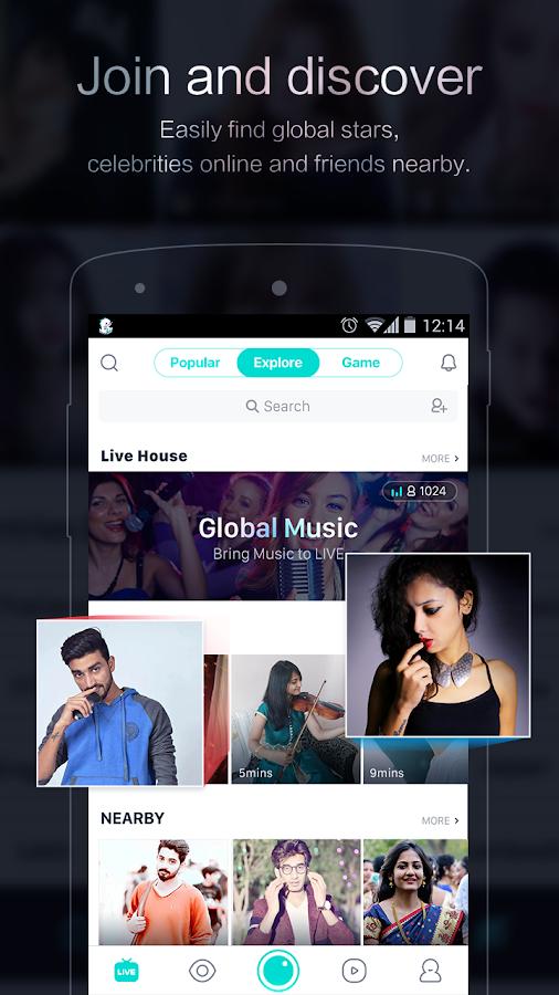 Screenshots of BIGO LIVE - Live Broadcasting for iPhone
