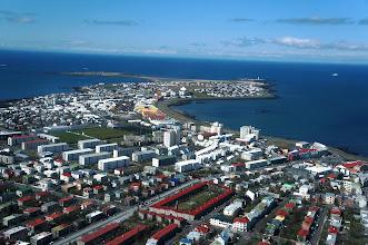 Photo: Seltjarnarnes peninsula, over whose perimeter we had walked the previous day.
